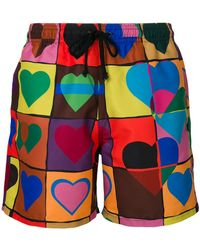 JW Anderson - Heart Grid Swim Trunks - Lyst