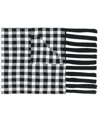 Christian Wijnants - Fringed Check Scarf - Lyst