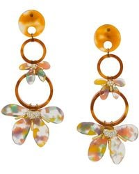 Lele Sadoughi - Flower Hoop Drop Earrings - Lyst