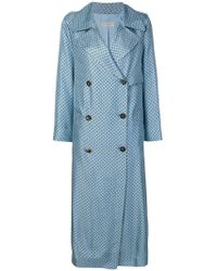 Alberto Biani - Dotted Double Breasted Coat - Lyst