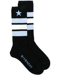 Givenchy - Star And Stripe Intarsia Socks - Lyst
