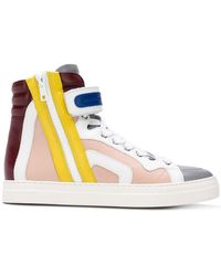Pierre Hardy - Hi-top Colour Block Trainers - Lyst
