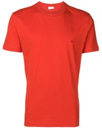 Calvin Klein - Logo Embroidered Crew Neck T-shirt - Lyst