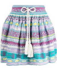 Laneus - A-line Knit Mini Skirt - Lyst