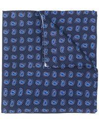 Lardini - Paisley Print Pocket Square - Lyst