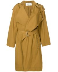Cedric Charlier - Wide Lapel Trench Coat - Lyst