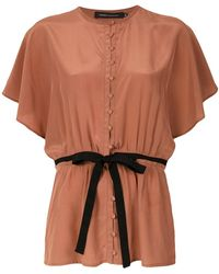 Andrea Marques - Bow Detail Blouse - Lyst