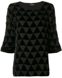 Clips - Triangle Mosaic Blouse - Lyst