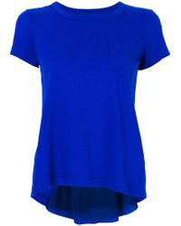 Sacai - Back Pleat Detail T-shirt - Lyst