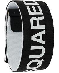 DSquared² - Logo Printed Bracelet - Lyst