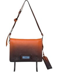 7565ac0b8790 Prada Cahier Straw Shoulder Bag in White - Lyst