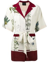 Erika Cavallini Semi Couture - Belted Shirt - Lyst
