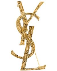 Saint Laurent - Opyum Ysl Crococile Brooch - Lyst