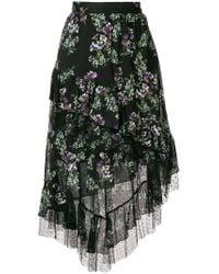 Blumarine - Asymmetric Floral Skirt - Lyst