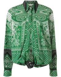 Etro - Mixed Print Knotted Shirt - Lyst