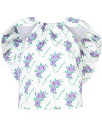 Rosie Assoulin - Floral Ruffle Top - Lyst