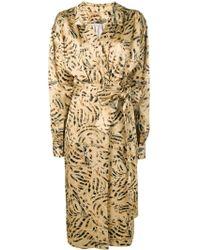 Marni - Patterned Wrap Font Dress - Lyst