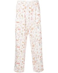 Undercover - Drawing Print Track Trousers - Lyst