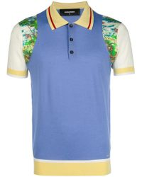 DSquared² - Colourblock Printed Polo Shirt - Lyst