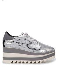 00a41288093a Lyst - Stella McCartney Sneak-elyse Faux-leather Platform Trainers ...