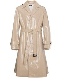 CALVIN KLEIN 205W39NYC - Beige High Shine Trench Coat - Lyst