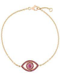 Monan - Ruby Set Evil Eye Bracelet - Lyst
