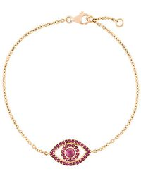 Monan - Ruby Set Evil Eye Bracelet - Lyst