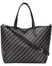 Karl Lagerfeld - Striped Logo Shopper Bag - Lyst