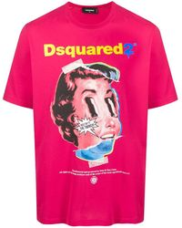 DSquared² T-shirt The Twins - Rose