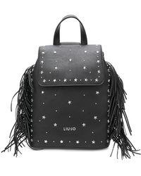 Liu Jo - Star Studded Fringed Backpack - Lyst