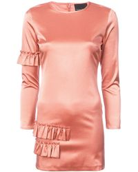 Cynthia Rowley - Aeris Satin Ruffle Mini Dress - Lyst