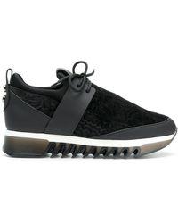 Alexander Smith - Velvet Platform Sneakers - Lyst