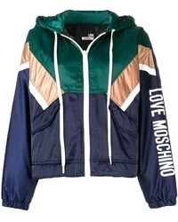 Love Moschino - Hooded Colour Block Jacket - Lyst