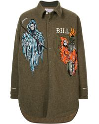 READYMADE Bill Shirt Met Borduurwerk - Groen