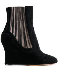 Alchimia Di Ballin - Metallic Panelled Wedge Ankle Boots - Lyst