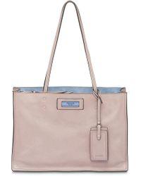 f346f1d1ac3d Lyst - Prada Etiquette Tote Bag in White