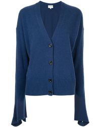 Calvin Klein - Flared Sleeve Knitted Cardigan - Lyst