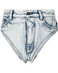 Y. Project - Shorts cortos desgastados - Lyst