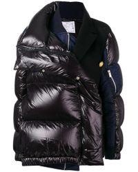 Sacai - Contrast Panel Puffer Jacket - Lyst