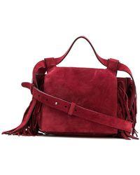 Elena Ghisellini - Fringe Detail Shoulder Bag - Lyst