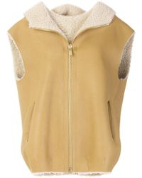 Michael Kors - Zipped Shearling Gilet - Lyst