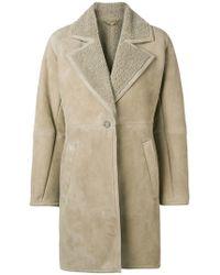 Ferragamo - Shearling-lined Coat - Lyst