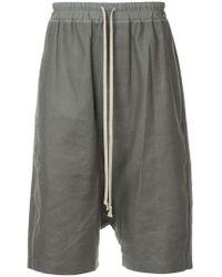 Rick Owens - Drop-crotch Bermuda Shorts - Lyst