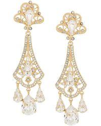 9f10abf09d98 Dolce   Gabbana - Pendientes con colgante de strass - Lyst