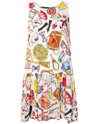 Love Moschino - Patterned Dress - Lyst