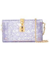 5fe0468117e Dolce & Gabbana Mini Dolce Embellished Cross-body Bag in Red - Lyst