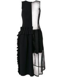 Paskal - Transparent Ruffle Detail Dress - Lyst