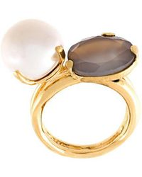 Wouters & Hendrix - 'my Favourite' Grey Agate And Pearl Ring - Lyst