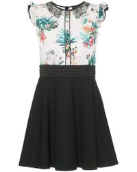 Loveless - Tropical-print Flared Mini Dress - Lyst