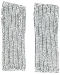 Holland & Holland Knitted Mittens - Gray